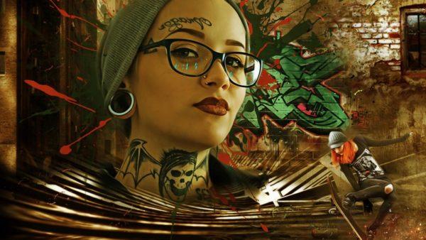 tattooed face woman girl meisje tattoo gezicht