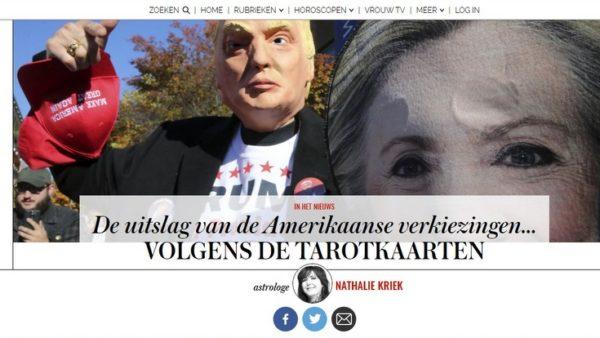 voorspelling trump president tarot amerikaanse verkiezingen
