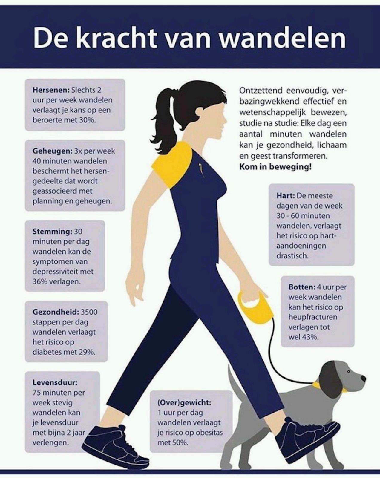 afvallen met wandelen